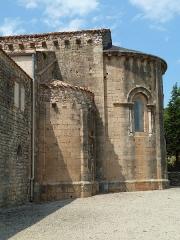 Ancienne abbaye de Fontcaude - English: Fontcaude abbey. Church. South side of the apses.
