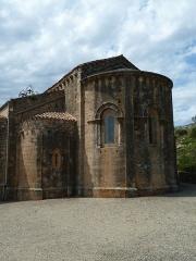 Ancienne abbaye de Fontcaude - English: Fontcaude abbey. Church. Apses.