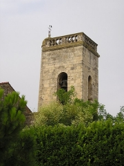 Eglise Saint-Martin - English: In Hérault, France, the bell tower of the church of Lansargues, viewed from North-East.