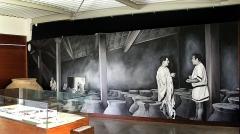 Parcelles contenant les vestiges d'une villa et de mosaïques gallo-romaines - Français:   Salle n° 2 du musée de site de la villa gallo-romaine des Prés Bas à Loupian (Hérault).
