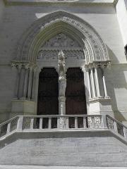 Cathédrale Saint-Pierre - Croisillon droit de la cathédrale Saint-Pierre de Montpellier (34). Portail.