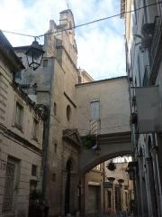 Eglise des Pénitents Blancs - Français:   Entrée de la chapelle au 14 rue Jacques Coeur à Montpellier