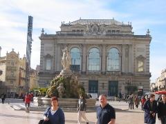Fontaine des Trois Grâces - English: Theatre in Place de la Comédie - Montpellier (Southern France) - picture taken in January '08