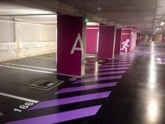 Gare -  Parking de la gare de Montpellier-Saint-Roch à Montpellier.