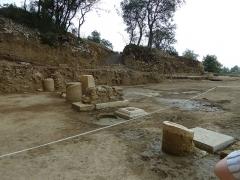 Oppidum pré-romain ou site archéologique de l'agglomération antique du Castellas - English: Murviel. Oppidum of Altimurium. Monumental Square. Eastern wing.