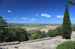 Oppidum d'Ensérune -  Aperçu de l\'étang de Montady, vue de l\'oppidum, 34440 Nissan-lez-Enserune, France