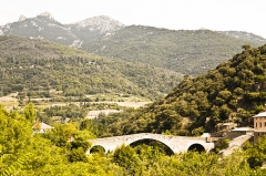 Pont du Diable -  Devil's bridge at Olargues in France.