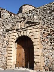 Château - English: Porch of the Castle in Pézènes-les-Mines