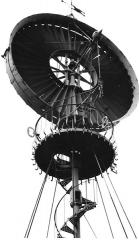 Eolienne de Roueire -  Rotor de l'Éolienne Bollée de Roueïre (1898) - Quarante (Hérault).