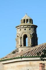 Ancien prieuré dit  château  de Cassan - Français:   Roujan (Hérault) - Abbaye de Cassan (Château de Cassan) - église romane Sainte-Marie - clocheton - art roman.