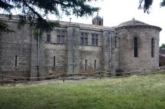 Ancien prieuré Saint-Michel de Grandmont - English:  Chevet and East facades.