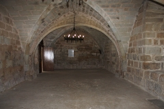 Ancien prieuré Saint-Michel de Grandmont - English:  The chapter house was enlarged. Originally it was a square room with the dimensions of the entrance porch witch side windows were bricked up at this opportunity.