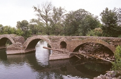 Restes du pont romain -  Saint-Thibéry: römische Brücke
