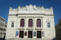 Eglise décanale Saint-Louis - Sète (Hérault) - Théâtre Molière (restauré en 2013) - Scène Nationale de Sète et du Bassin de Thau. Inauguré le 9 avril 1904. Sculptures de la façade de Jean-Antoine Injalbert.