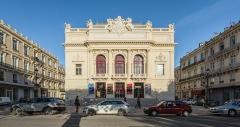 Eglise décanale Saint-Louis - Le Théâtre Molière, vue depuis l'ouest.  Sète, Hérault, France.