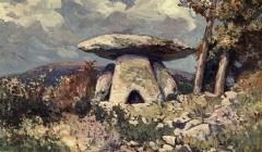 Dolmen dit de Coste Rouge - British cleric and writer English Victorian hagiographer, antiquarian, novelist and eclectic scholar. His bibliography lists more than 500 separate publications.