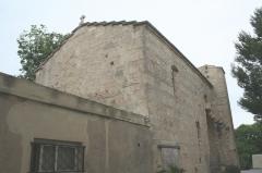 Ancienne église Notre-Dame-d'Aix - Français:   Balaruc-les-Bains (Hérault) - Notre-Dame d\'Aix - façade méridionale.