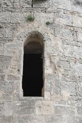 Ancienne église Notre-Dame-d'Aix - Français:   Balaruc-les-Bains (Hérault) - Notre-Dame d\'Aix - fenêtre romane.