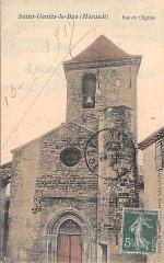 Eglise paroissiale - English: Saint-Geniès-le-Bas, vue de l'Église 1919