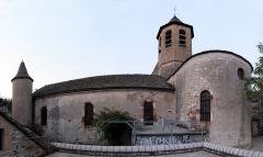 Eglise Saint-Pierre Saint-Paul - Deutsch: Die Kirche von Ispagnac im Département Lozère. Zusammengesetzt aus fünf Einzelbildern mit Hugin.