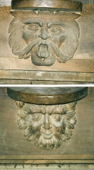 Eglise paroissiale Notre-Dame-de-la-Carce - English: misericords from church of Marvejols (48) France