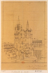 Cathédrale Notre-Dame et Saint-Privat - French lithographer and painter