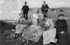 Croix en pierre - Croix des Barrabans dite des Anglais en 1910