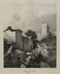 Ancienne abbaye - French-German lithographer
