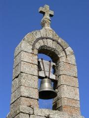 Ensemble patrimonial -  Détail du clocher de tourmente du hameau de la Fage, commune de Saint-Étienne-du-Valdonnez, Lozère, France