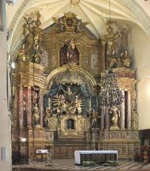 Eglise Notre-Dame del Prat - Deutsch: Hauptaltar der Pfarrkirche Notre-Dame del Prat, Argelès-sur-Mer, Frankreich, 1. Viertel 18.Jh.