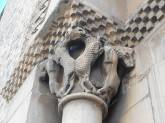 Eglise Sainte-Marie - Català: Portalada romànica de Santa Maria del Voló