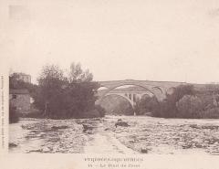 Pont sur le Tech - English: Les deux ponts de Céret (début XXe s.)