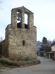 Eglise Saint-Julien - Français:   Clocher de l\'église Saint-Julien d\'Estavar