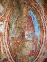 Chapelle de Saint-Martin-del-Fenouillar - Deutsch: Fresko in der Kapelle Saint-Martin-de-Fenollar