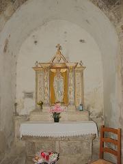 Eglise Sainte-Marie - Autel et retable, Église Sainte-Marie, Montferrer (Pyrénées-Orientales, Languedoc-Roussillon, France)