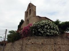 Eglise paroissiale Sainte-Eugénie - Français:   Église Sainte-Eugénie d\'Ortaffa (Pyrénées-Orientales, France).