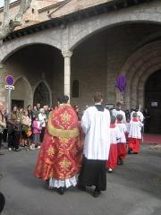 Eglise Saint-Jacques - Català: Benedicció dels rams del II Diumenge de Passió (de Rams) a l'apostolat de la FSSP a Perpinyà