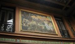 Ancien Hôtel Pams - Català: Casa Pams (Perpinyà), pintura de Paul Jean Gervais a la galeria superior