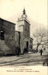 Ancienne porte fortifiée - Français:   L\'horloge du Rabailly à Pézilla-la-Rivière