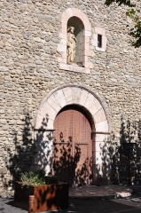 Eglise Saint-Pierre -  Prada. Parish Church. Main door. 1668. en.wikipedia.org/wiki/Prades,_Pyr%C3%A9n%C3%A9es-Orientales