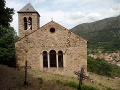 Eglise Saint-Etienne - Català: Sant Esteve de Saorra al Conflent, finestra trigeminada.