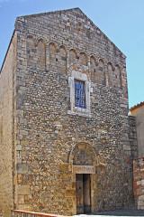 Eglise Saint-André de Sorède - Deutsch: St-André-de-Sorède, Fassade von Nordwest