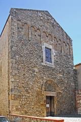 Eglise Saint-André de Sorède - Deutsch: St-André-de-Sorède, Fassade, von NW