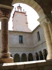 Restes du cloître - Deutsch: Kirchturm der Abteikirche St.Michel