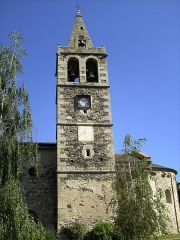 Eglise Saint-Martin - Català:   Campanar de l\'església d\'Ur