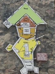 Fort Libéria (également sur commune de Fuilla) -  Übersichtsplan des Fort Libéria