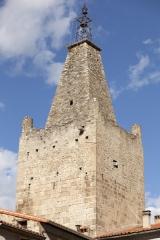 Ancien hôtel de ville - English: Villefranche-de-Conflent (Vilafranca de Conflent);; Languedoc-Roussillon, Pyrénées-Orientales; France; The belfry tower. 12th century.; photo: Paul M.R. Maeyaert; pmrmaeyaert@gmail.com; www.pmrmaeyaert.eu; Ref: PM_107945_F_Villefranche_de_Conflent.jpg