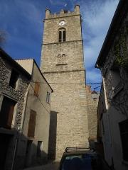 Eglise paroissiale Saint-Julien-et-Sainte-Baselisse - Català: Campanar de l'església parroquial de Vinçà