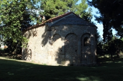 Chapelle Saint-Etienne-de-Villerase - Français:   Église Saint-Étienne de Vilarasa, abside et nef