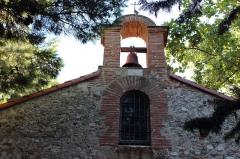 Chapelle Saint-Etienne-de-Villerase - Français:   Église Saint-Étienne de Vilarasa, baie supérieure et clocher dans façade